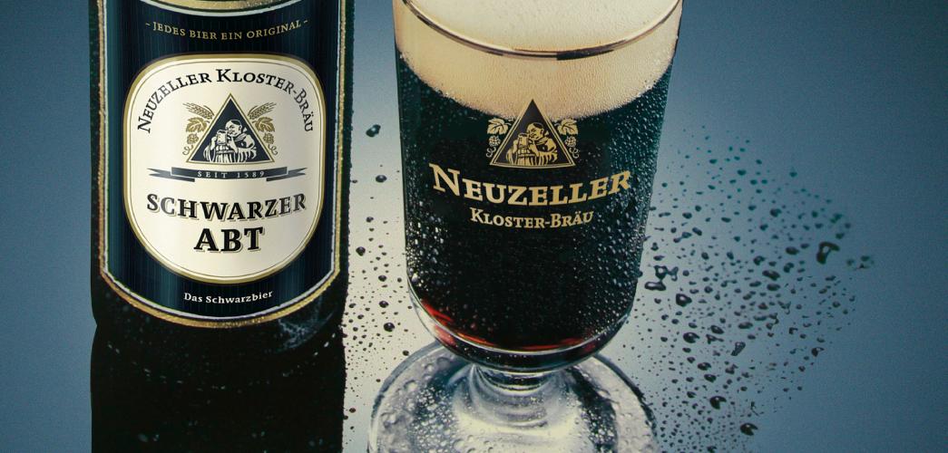 Etikettendesign Schwarzer Abt